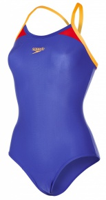 Speedo Thinstrap Racerback Ultramarine/Orange/Lobster