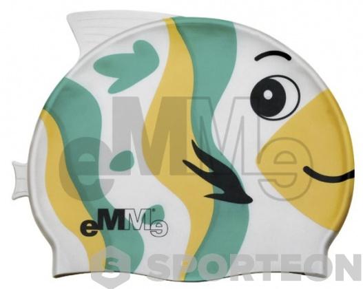 Gorros de natación niño Emme pez verde-amarillo