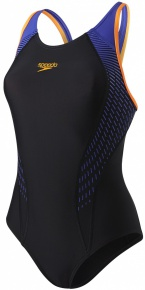 Speedo Fit Laneback Black/Fluo Orange/Ultramarine