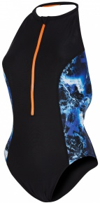 Speedo Stormza High Neck 1 Piece Black/Ultramarine/Stellar