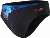 Speedo EnergyBlast Placement Digital 7cm Brief Black/Lobster/Violet