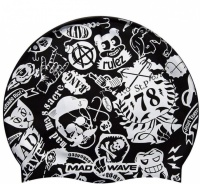 Mad Wave Silicone Printed Swim Cap 78 Junior