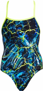 Funkita Midnight Marble Strapped In One Piece
