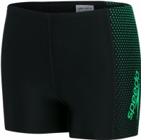 Speedo Gala Logo Panel Aquashort Boy Black/Fake Green