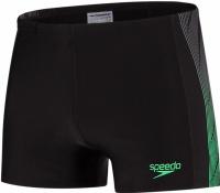 Speedo Placement Panel Aquashort Black/USA Charcoal/Fake Green