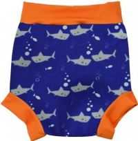 Splash About New Happy Nappy Shark Orange