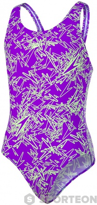 Speedo Boom Allover Splashback Girl Royal Purple/Bright Zest