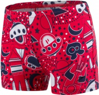 Speedo Essential Allover Aquashort Boy Risk Red/Navy/White
