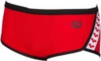 Arena Team Stripe Low Waist Short Red/Black