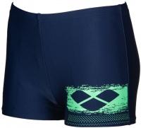 Arena Scratchy Short Junior Navy/Golf Green