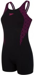 Speedo Boomstar Splice Legsuit Black/Electric Pink