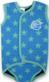 Splash About Baby Wrap Blue Star